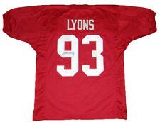 MARTY LYONS AUTOGRAPHED SIGNED ALABAMA CRIMSON TIDE #93 JERSEY JSA