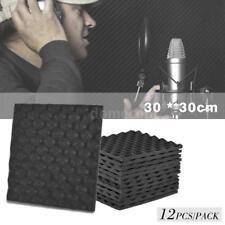 12 Pack 1 Set 30 * 30cm Studio Acoustic Foams Panels Sound Insulation Foam Lot