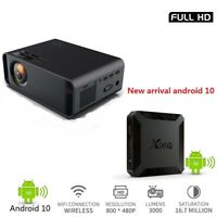 Portable Projector 4K HDMI Support Full HD WIFI Android 10 TV BOX 3000 Proyector