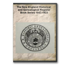 The New England Historical and Genealogical Register Series 1847-1923 - DVD A735