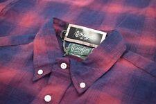 Gitman Bros. Vintage NWT Button Down Flannel Shirt Sz XXL In Red & Blue Plaid