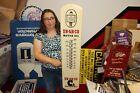 """Large En-Ar-Co Motor Oil Gas Station 39"""" Porcelain Metal Thermometer Sign"""