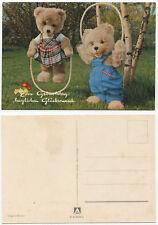 35067 - Teddys beim Seilspringen - Geburtstag - alte Ansichtskarte