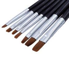7 Stück UV Acryl Gel Set Pinsel Gelpinsel Nail Art Nagelart Maniküre Nagellack