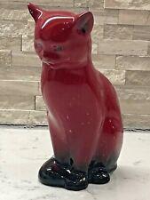"Vintage Royal Doulton ""Flambe Cat Hn 967 (1920-1996) ""Rare"" ""Signed"" Gorgeous!"