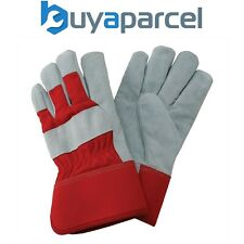 Kent & Stowe Rigger Gloves Heavy Duty Strong Gardening Utility Suede Red Large