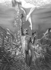 Alex Ross SIGNED Universal Monster Sideshow Art Print Creature From Black Lagoon