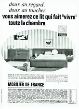 Publicité Advertising 097  1966  chambre lit  Mobilier de France
