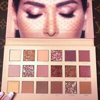Huda Beauty Nude Eyeshadow Palette Glitter 18 Colors Makeup Cosmetics UpgradedUS