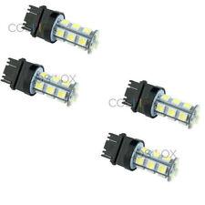 4 Pcs Xenon White 3156 3157 18-SMD 6000K Tail Brake Backup Reverse LED