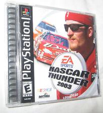 NASCAR Thunder 2003 Sony PlayStation 1, 2002 E - Everyone Free Shipping USA