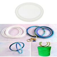 Silicone Mold Resin Jewelry Casting Mould For Bangle Bracelet DIY Art Tools 80mm