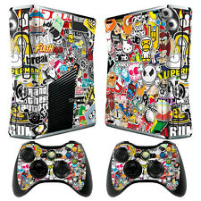 BOMB VERSION II 8 Decal Sticker Cover For xbox360 slim Console&Controller Skins