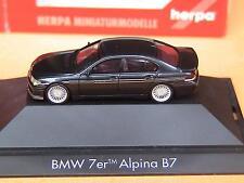 Herpa BMW Alpina B 7 E 65 mit Silberstreifen schwarz 101660