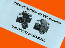 ENGLISH MANUAL for KIEV-6C KIEV-6S KIEV-60 medium F camera BOOKLET INSTRUCTION
