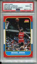 1986 Fleer Basketball Michael Jordan Rookie Card PSA 10 Replicate 1996 Decade