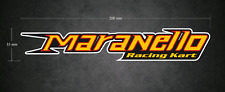MARANELLO Racing Kart 200mm x 35mm Sticker/Decal - Printed & Laminated - Karting