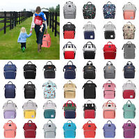 LEQUEEN Waterproof Large Mummy Nappy Diaper Bags Baby Travel Nursing Backpack