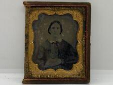 Vintage Ambrotype Pre Civil War Woman's Photo Antique Daguerreotype Photograph