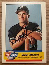 1995 Fleer ProCards Daniel Robinson #260 Ip Signed Auto Autograph Manatees