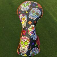Sugar Skull Golf Hybrid head cover, funky Cinco de Mayo or day of the dead patt