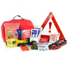 DELUXE AUTO SAFETY KIT- CAR AUTOMOBILE EMERGENCY SUPPLIES & GEAR PACK: FIRST AID