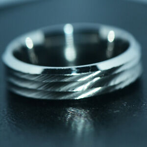 Stainless Steel Band Ring Jewelry Silver RINGS for Mens Hip Hop Rings Size 8