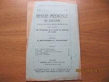 Revue Médicale de Louvain N°24 1933