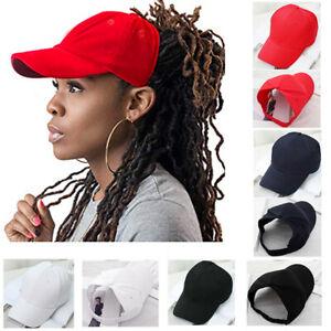 Backless Ponytail Baseball Cap for Women Natural Afro Curly Hair Bun Sun Hat Cap
