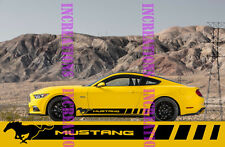 Ford Mustang Racing Side Stripes Decals Gt Shelby Convertible Sticketrs Stripes
