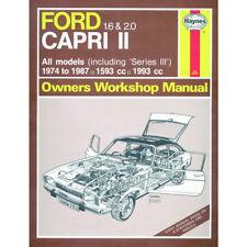 Ford Capri II (and III) 1.6 2.0 Petrol 74-87 (up to E Reg) Haynes Manual