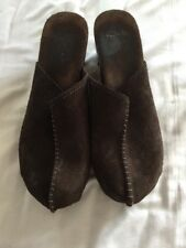 Clarks Women's Brown Suede Sandal Clogs Shoes Studs Detail UK 5.5 D