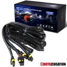 12V 40A Fog Lights 12 Gauge HID LED 4 Connectors Wiring Harness Kit Heavy Duty