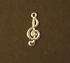 Lot Of 50 Pcs Silver Plated G Clef Music Note Pendants Charms 10x22mm
