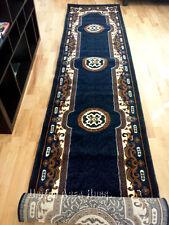 "3x16 Runner Rug Persian Oriental Medallion Floral Hallway Size 2'8""x15'5""  Navy"