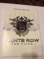 SAINTS ROW THE THIRD 3RD SR3 STUDIO EDITION BOOK STRATEGY GUIDE RARE!