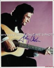 Signed Johnny Cash 8X10 Color RP Photo w/coa Free Shipping