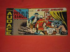 PICCOLO RANGER 3°SERIE III°-N°22 DEL 1960-STRISCIA -COLLANA AUDACE-araldo raro