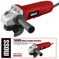 """Moss 500W Electric Angle Grinder 115mm 4.5"""" Heavy Duty Cutting Grinding 240V"""