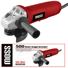 "Moss 500W Electric Angle Grinder 115mm 4.5"" Heavy Duty Cutting Grinding 240V"