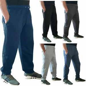 Mens New Fleece Cuffed Tracksuit Street Sweat Pants Bottoms Joggers Trousers