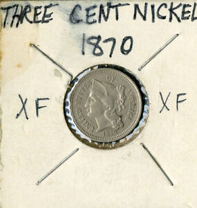 US Coin 1870 Three Cent Nickel NO RESERVE!