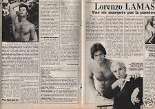 Coupure de presse Clipping 1987 Lorenzo Lamas  (4 pages)