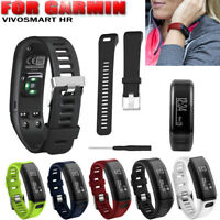 Replacement Silicone Bracelet Strap Wrist Band Accessory for Garmin Vivosmart HR