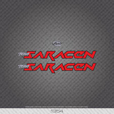 01354 Saracen Bicycle Stickers - Decals - Transfers - Red With Black Keyline