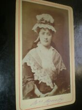 Cdv old photograph actress Clara Rousby c1870s