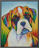 Colorful Boxer Dog Counted Cross Stitch Chart No. 16-150