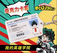 My Hero Academia Bakugou Katsuki Acrylic Cards Holder Keychain Bag's Pendant Cos