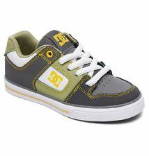 Tg 32 - Scarpe Bimbo Bambino Skate DC Pure Grigio Bianco Giallo Sneakers Schuhe