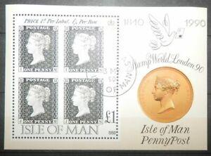 Isle of Man 1990 Block 12 150 J. Briefmarken oo, sehr gut erhalten, siehe Foto.